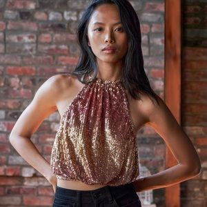 Free People Lights Out Halter Top